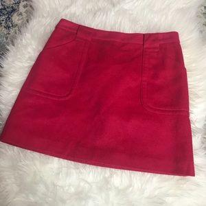 J. Crew Wool Pink Skirt